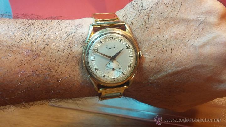 Relojes de pulsera: Especimen in OF, reloj Suizo VIntage Lanco Imperator, gran tamaño, a cuerda y de 15 rubís - Foto 10 - 99052444