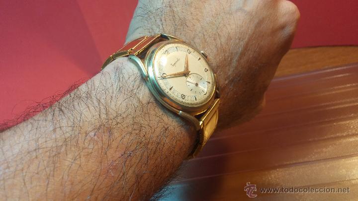 Relojes de pulsera: Especimen in OF, reloj Suizo VIntage Lanco Imperator, gran tamaño, a cuerda y de 15 rubís - Foto 11 - 99052444