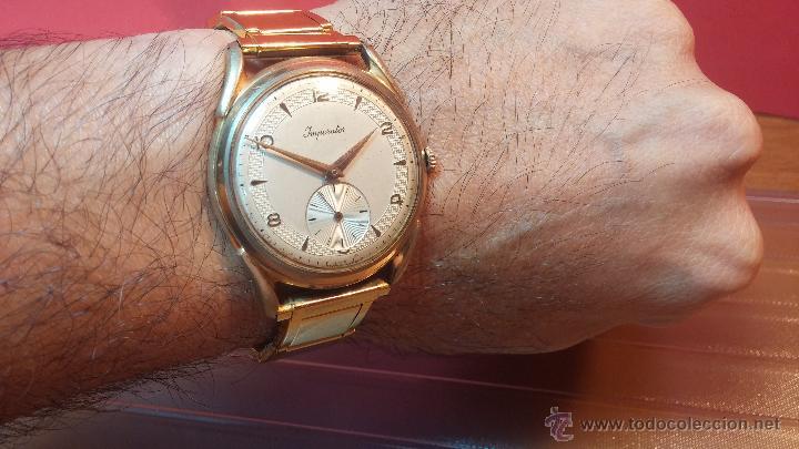 Relojes de pulsera: Especimen in OF, reloj Suizo VIntage Lanco Imperator, gran tamaño, a cuerda y de 15 rubís - Foto 16 - 99052444
