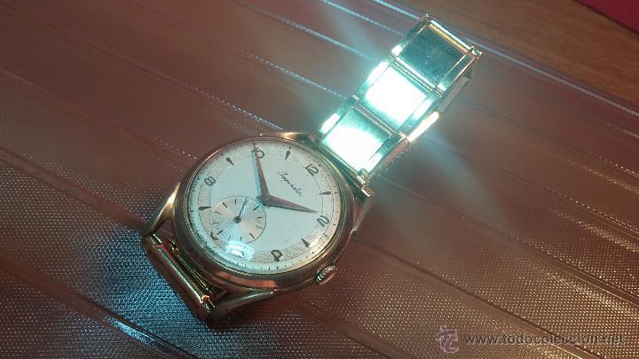 Relojes de pulsera: Especimen in OF, reloj Suizo VIntage Lanco Imperator, gran tamaño, a cuerda y de 15 rubís - Foto 19 - 99052444