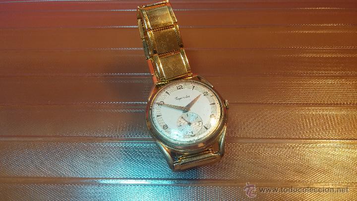 Relojes de pulsera: Especimen in OF, reloj Suizo VIntage Lanco Imperator, gran tamaño, a cuerda y de 15 rubís - Foto 20 - 99052444