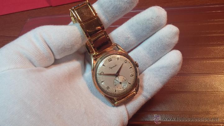 Relojes de pulsera: Especimen in OF, reloj Suizo VIntage Lanco Imperator, gran tamaño, a cuerda y de 15 rubís - Foto 21 - 99052444