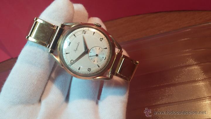 Relojes de pulsera: Especimen in OF, reloj Suizo VIntage Lanco Imperator, gran tamaño, a cuerda y de 15 rubís - Foto 28 - 99052444