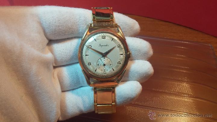 Relojes de pulsera: Especimen in OF, reloj Suizo VIntage Lanco Imperator, gran tamaño, a cuerda y de 15 rubís - Foto 29 - 99052444
