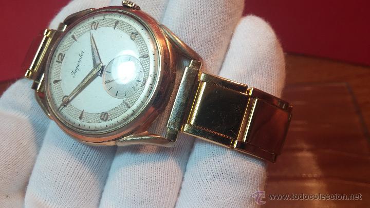 Relojes de pulsera: Especimen in OF, reloj Suizo VIntage Lanco Imperator, gran tamaño, a cuerda y de 15 rubís - Foto 31 - 99052444