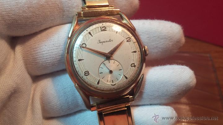 Relojes de pulsera: Especimen in OF, reloj Suizo VIntage Lanco Imperator, gran tamaño, a cuerda y de 15 rubís - Foto 32 - 99052444