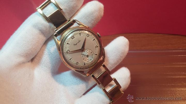 Relojes de pulsera: Especimen in OF, reloj Suizo VIntage Lanco Imperator, gran tamaño, a cuerda y de 15 rubís - Foto 34 - 99052444