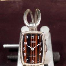 Relojes de pulsera: HURISA - RELOJ DE SEÑORA PULSERA Y CAJA DE PLATA (NUEVO) AÑOS 65-70 SWISS MADE. Lote 52399787