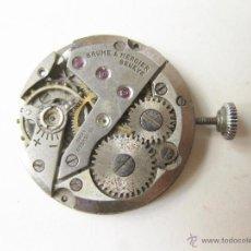 Relojes de pulsera: MAQUINARIA DE CUERDA DE UN RELOJ BAUME & MERCIER DE SEÑORITA - NO FUNCIONA. Lote 52775765
