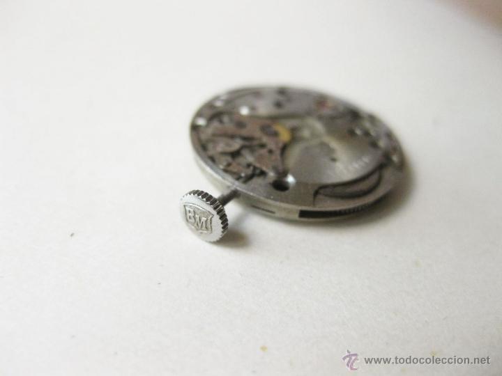 Relojes de pulsera: MAQUINARIA DE CUERDA DE UN RELOJ BAUME & MERCIER DE SEÑORITA - NO FUNCIONA - Foto 3 - 52775765