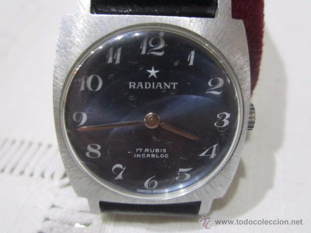 RELOJ DE PULSERA RADIANT, SIN USO MOVIMIENTO CUERDA. 225 X 27 CMS. FUNCIONANDO. (Relojes - Pulsera Carga Manual)