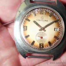 Relojes de pulsera: RELOJ CABALLERO CORTICIMA 17 RUBIS INCABLOCK CARGA MANUAL 17 JEWELLS SEGUNDERO Y CALENDARIO. Lote 53079042