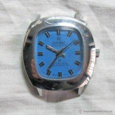 Relojes de pulsera: RELOJ SUIZO DE CUERDA RAMBA SUPER DE LUXE FUNCIONANDO. Lote 53089544