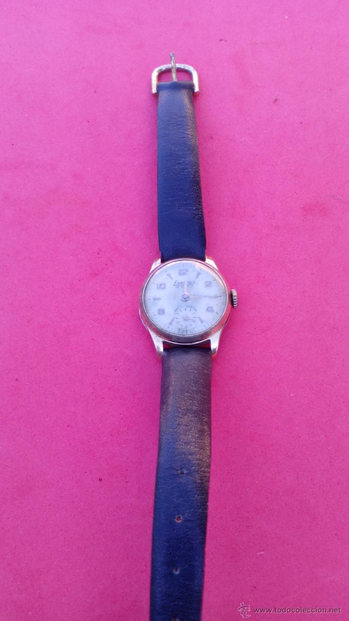 Relojes de pulsera: RELOJ EXACTUS CHAPADO EN ORO - Foto 3 - 53151488