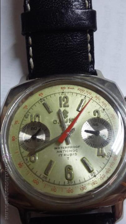 RELOJ CAUNY SWISS CRONOMETRO WATERPROOF ANTICHOC 17 RUBIS (Relojes - Pulsera Carga Manual)