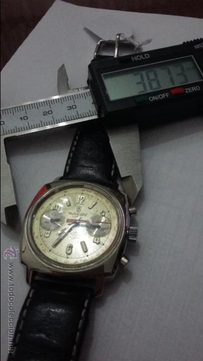 Relojes de pulsera: RELOJ CAUNY SWISS CRONOMETRO WATERPROOF ANTICHOC 17 RUBIS - Foto 7 - 53178252