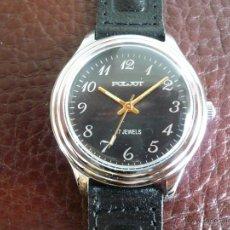 Relojes de pulsera: CCCP POLJOT CLASICO NUMERADO CON RARA TAPA TRACERA - OLD STOCK. -AÑOS 80- MADE IN URSS. Lote 53278930