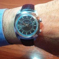 Relojes de pulsera: RELOJ POLJOT CON ALARMA MECÁNICA DE 18 JEWELS, CON DIAL TIPO CRONOMETRO, MUY BONITO, AÑOS 60-70. Lote 53307791