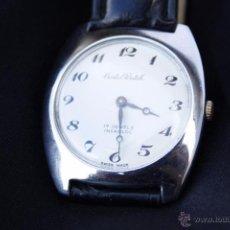 Relojes de pulsera: RALOJ DE PULSERA CARGA MANUAL - CRISTAL WATCH 17 JEWELS INCABLOC SWISS MADE - FUNCIONANDO. Lote 53636293