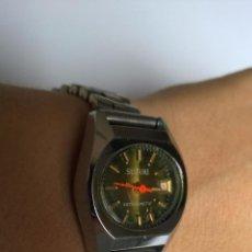 Relojes de pulsera: RELOJ DE SEÑORA SUZUKI ANTIMAGNETIC DE CUERDA CON CALENDARIO Y ARMIS DE ACERO FUNCIONA PERFECTAMENTE. Lote 53709140