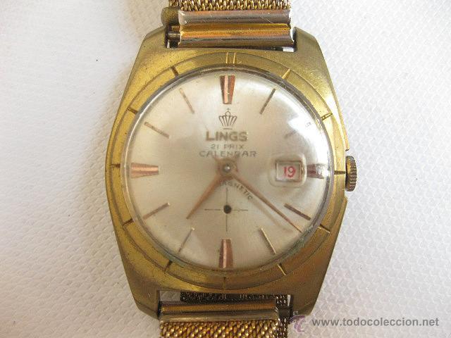 RELOJ DE PULSERA CALENDARIO LINGS. FUNCIONANDO. (Relojes - Pulsera Carga Manual)