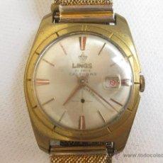 Relojes de pulsera: RELOJ DE PULSERA CALENDARIO LINGS. FUNCIONANDO.. Lote 53731533