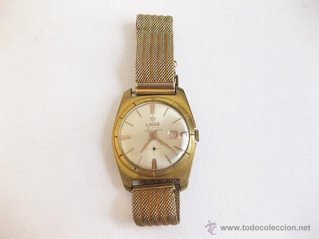 Relojes de pulsera: Reloj de pulsera Calendario Lings. Funcionando. - Foto 2 - 53731533