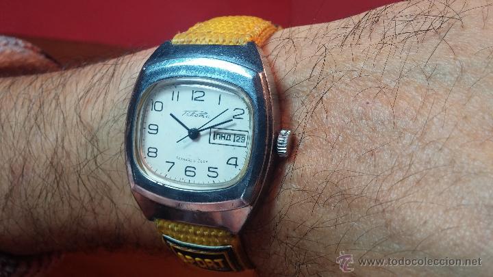 Relojes de pulsera: RELOJ RAKETA DE LA CCCP VINTAGE de CUERDA, IDEAL PARA USO DIARIO, Nº 2628-H - Foto 7 - 53737009
