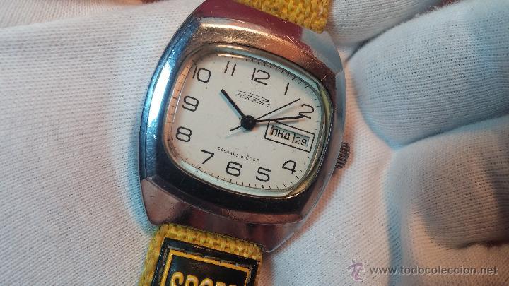 Relojes de pulsera: RELOJ RAKETA DE LA CCCP VINTAGE de CUERDA, IDEAL PARA USO DIARIO, Nº 2628-H - Foto 13 - 53737009