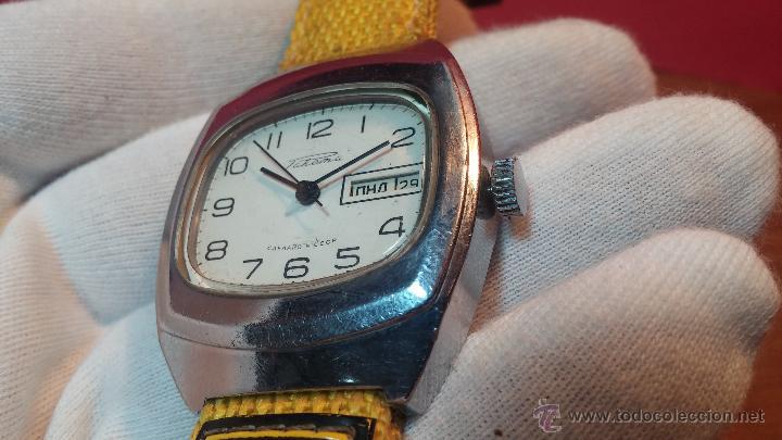 Relojes de pulsera: RELOJ RAKETA DE LA CCCP VINTAGE de CUERDA, IDEAL PARA USO DIARIO, Nº 2628-H - Foto 18 - 53737009