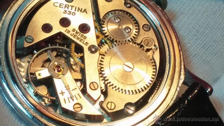 Relojes de pulsera: Raro reloj Certina Kurth Freres, calibre 330, de 15 rubíes y con UN muy curioso logo terminado en V - Foto 3 - 53754493