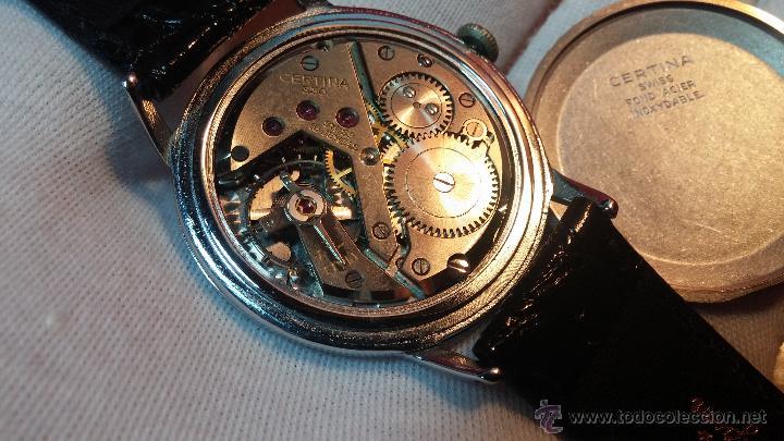 Relojes de pulsera: Raro reloj Certina Kurth Freres, calibre 330, de 15 rubíes y con UN muy curioso logo terminado en V - Foto 5 - 53754493