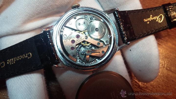 Relojes de pulsera: Raro reloj Certina Kurth Freres, calibre 330, de 15 rubíes y con UN muy curioso logo terminado en V - Foto 6 - 53754493