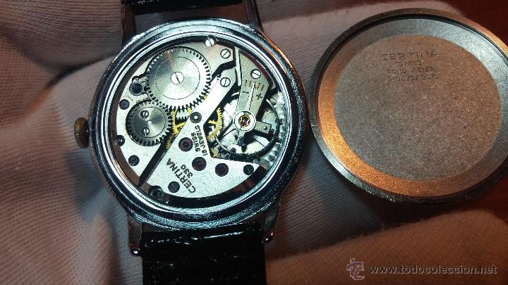 Relojes de pulsera: Raro reloj Certina Kurth Freres, calibre 330, de 15 rubíes y con UN muy curioso logo terminado en V - Foto 7 - 53754493