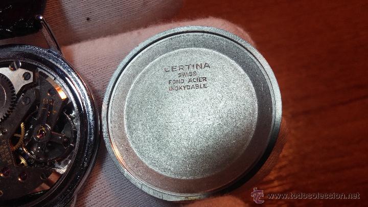 Relojes de pulsera: Raro reloj Certina Kurth Freres, calibre 330, de 15 rubíes y con UN muy curioso logo terminado en V - Foto 8 - 53754493