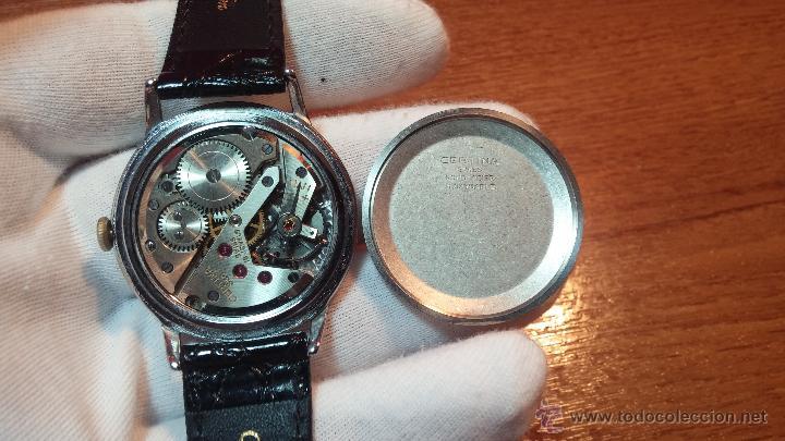 Relojes de pulsera: Raro reloj Certina Kurth Freres, calibre 330, de 15 rubíes y con UN muy curioso logo terminado en V - Foto 9 - 53754493