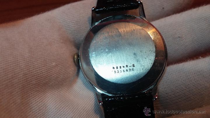 Relojes de pulsera: Raro reloj Certina Kurth Freres, calibre 330, de 15 rubíes y con UN muy curioso logo terminado en V - Foto 10 - 53754493