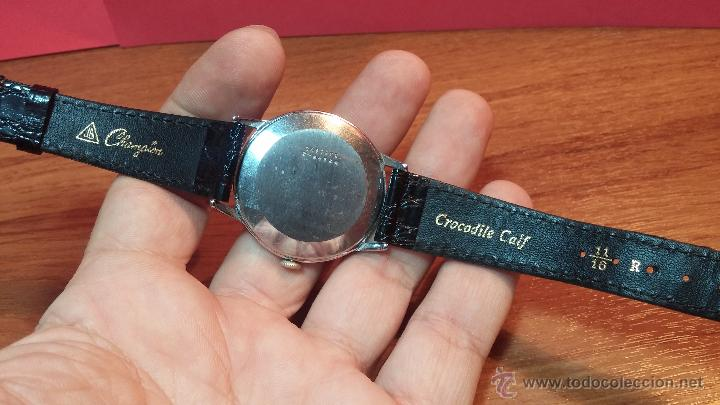 Relojes de pulsera: Raro reloj Certina Kurth Freres, calibre 330, de 15 rubíes y con UN muy curioso logo terminado en V - Foto 11 - 53754493