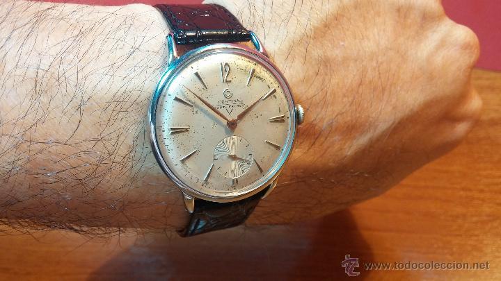 Relojes de pulsera: Raro reloj Certina Kurth Freres, calibre 330, de 15 rubíes y con UN muy curioso logo terminado en V - Foto 13 - 53754493