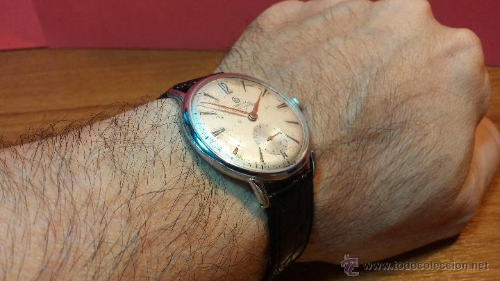 Relojes de pulsera: Raro reloj Certina Kurth Freres, calibre 330, de 15 rubíes y con UN muy curioso logo terminado en V - Foto 14 - 53754493
