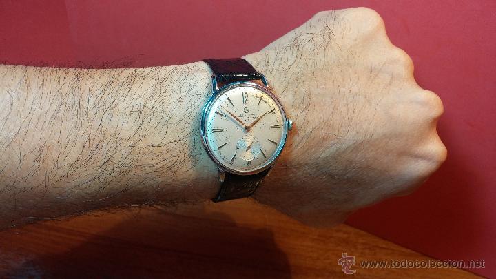 Relojes de pulsera: Raro reloj Certina Kurth Freres, calibre 330, de 15 rubíes y con UN muy curioso logo terminado en V - Foto 16 - 53754493