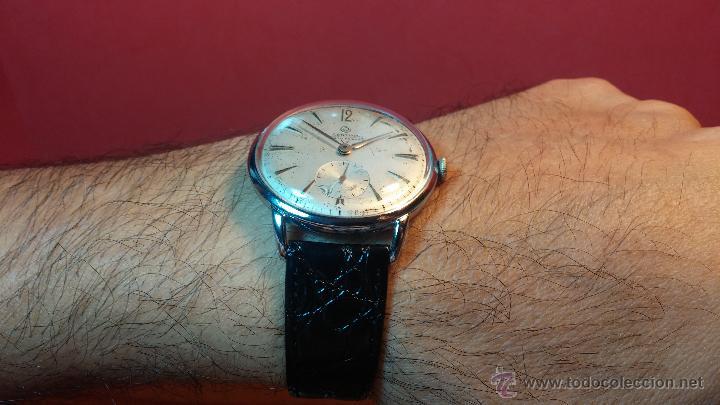 Relojes de pulsera: Raro reloj Certina Kurth Freres, calibre 330, de 15 rubíes y con UN muy curioso logo terminado en V - Foto 19 - 53754493