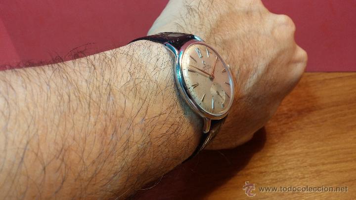 Relojes de pulsera: Raro reloj Certina Kurth Freres, calibre 330, de 15 rubíes y con UN muy curioso logo terminado en V - Foto 22 - 53754493
