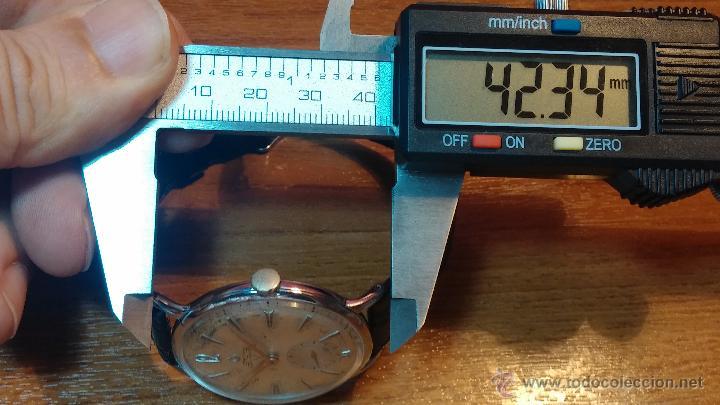 Relojes de pulsera: Raro reloj Certina Kurth Freres, calibre 330, de 15 rubíes y con UN muy curioso logo terminado en V - Foto 25 - 53754493