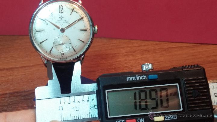 Relojes de pulsera: Raro reloj Certina Kurth Freres, calibre 330, de 15 rubíes y con UN muy curioso logo terminado en V - Foto 27 - 53754493