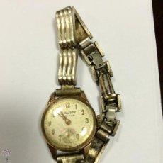 Relojes de pulsera: ANTIGUO RELOJ DE SEÑORA CAUNY PRIMA CHAPADO EN ORO. FUNCIONANDO. Lote 53877469