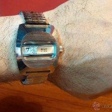 Relojes de pulsera: RELOJ DIGITAL DE CUERDA OSMAN, EN ESTADO DE REESTRENO, ESPÉCIMEN PRECURSOR DE LOS DIGITALES, AÑOS 70. Lote 54000593