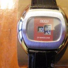 Relojes de pulsera: RELOJ SUIZO VINTAGE BLOCH DE DISCOS DE CARGA MANUAL CF BARCELONA FUNCIONANDO. Lote 54080736