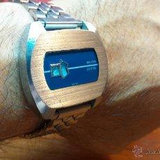 Relojes de pulsera: RELOJ SUIZO NILDA DE CUERDA DIGITAL, AÑOS 70, DE LOS PRIMEROS DIGITALES DE CARGA MANUAL. Lote 66126355
