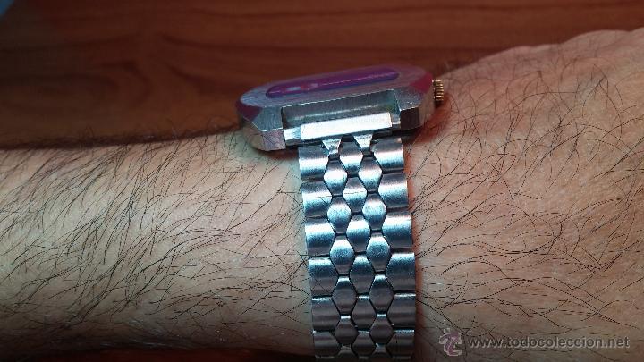 Relojes de pulsera: Reloj Suizo NILDA de cuerda DIGITAL, años 70, de los primeros digitales de carga manual - Foto 5 - 66126355